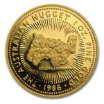 Золотая монета 100 долларов 1986 год. Австралия. Самородки