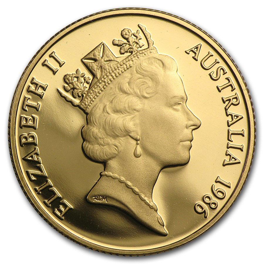 Золотая монета 200 долларов 1986 год. Австралия. Коала - 1