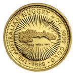 Золотая монета 25 долларов 1988 год. Австралия. Самородки