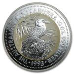 Серебряная монета 10 долларов 1993 год. Австралия. Кукабарра