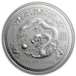 Серебряная монета 10 долларов 2000 год. Австралия. Лунар. Год Дракона