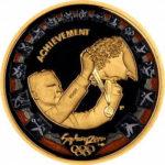 Золотая монета 100 долларов 2000 год. Австралия. Презентация золотой медали