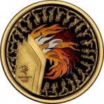 Золотая монета 100 долларов 2000 год. Австралия. Олимпийский факел