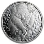 Серебряная монета 1 доллар 2007 год. Австралия. Коала
