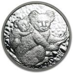 Серебряная монета 1 доллар 2008 год. Австралия. Коала