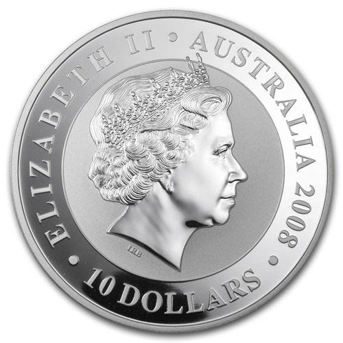 Серебряная монета 10 долларов 2008 год. Австралия. Коала - 1