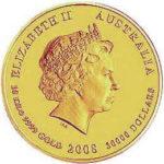 Золотая монета 30000 долларов 2008 год. Австралия. Лунар. Год Крысы