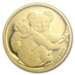Золотая монета 15 долларов 2008 год. Австралия. Коала
