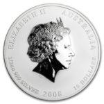 Серебряная монета 15 долларов 2008 год. Австралия. Лунар. Год Крысы