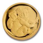 Золотая монета 200 долларов 2008 год. Австралия. Коала