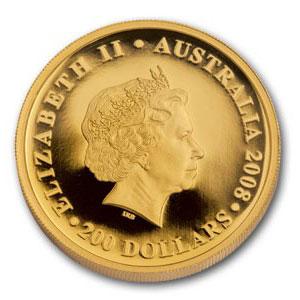 Золотая монета 200 долларов 2008 год. Австралия. Коала - 1