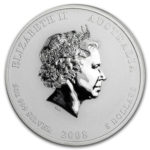 Серебряная монета 8 долларов 2008 год. Австралия. Лунар. Год Крысы