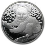 Серебряная монета 1 доллар 2009 год. Австралия. Коала