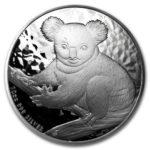 Серебряная монета 10 долларов 2009 год. Австралия. Коала