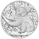 Серебряная монета 50 центов 2009 год. Австралия. Коала