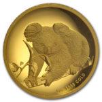 Золотая монета 100 долларов 2010 год. Австралия. Коала