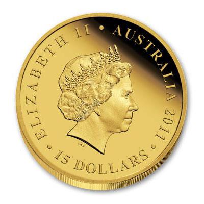 Золотая монета 15 долларов 2011 год. Австралия. Коала - 1
