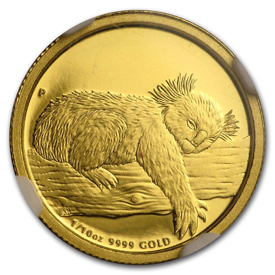 Золотая монета 15 долларов 2012 год. Австралия. Коала