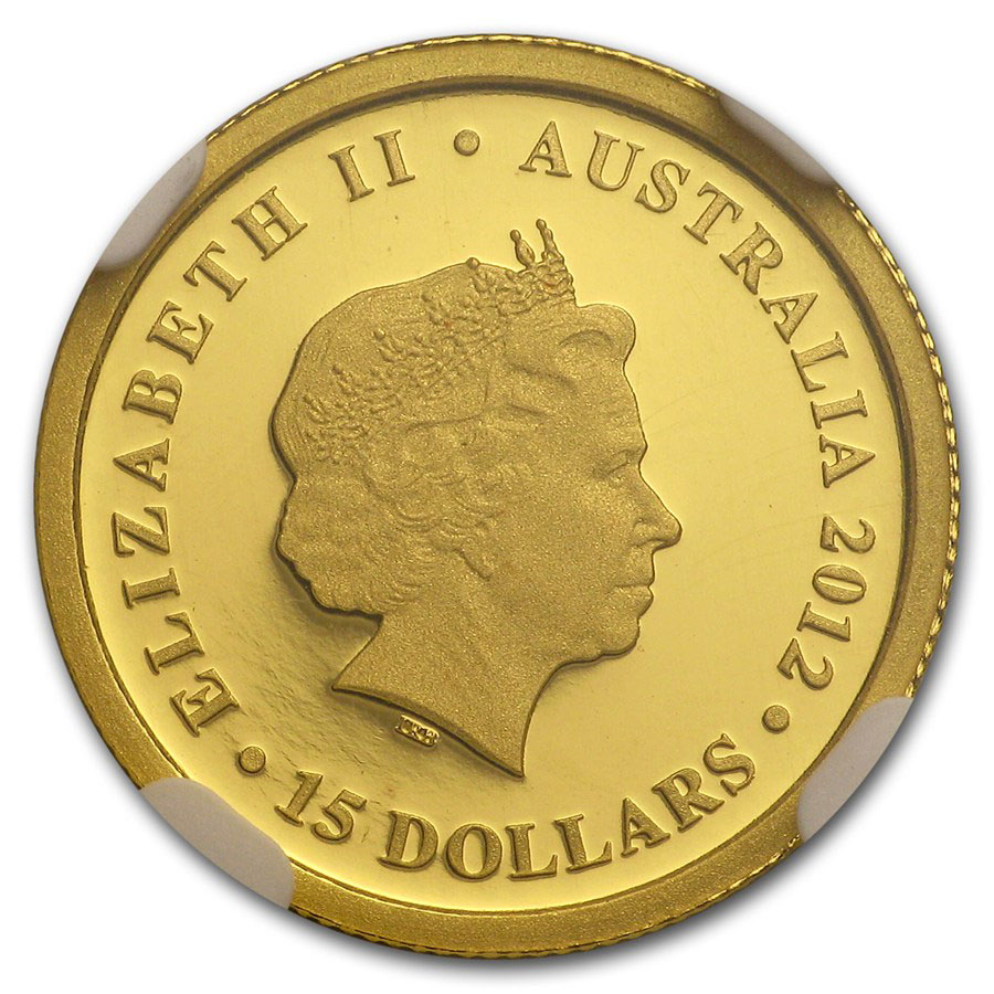 Золотая монета 15 долларов 2012 год. Австралия. Коала - 1