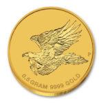 Золотая монета 2 доллара 2015 год. Австралия. Клиновидный орел
