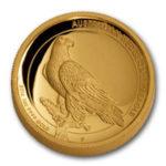 Золотая монета 100 долларов 2016 год. Австралия. Клиновидный орел