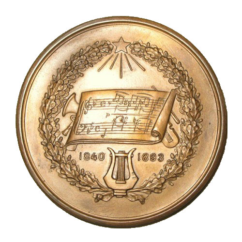 Памятная настольная медаль П.И.Чайковский - 1