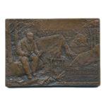 Памятная настольная медаль Последнее подполье В.И.Ленина близ станции Сестрорецк 17 июля 1917г.