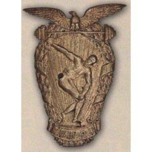 Нагрудный знак I-й выпуск Главной военной школы физического образования трудящихся (ГВШФОТ). 1921 г.