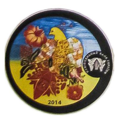 Медаль НБУ Графический знак гривны 2014 год