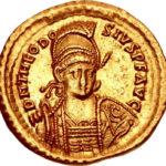 Золотой солид Византии, Флавий Феодосий Юниор, 402-450 год