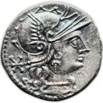 Серебряный Республиканский Денарий Луция Минуция, 133 год до н.э.