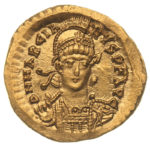 Золотой солид Византии, Флавий Маркиан, 450-457 год