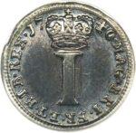 Серебряная монета 1 Пенни (1 Penny) Великобритания