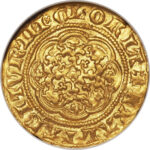 Золотая монета ¼ Noble (1/4 нобля) Великобритания