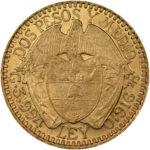 Золотая монета 2½ Песо (2½ Pesos) Колумбия