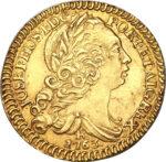 Золотая монета 1600 рейсов (1600 Réis) Бразилия
