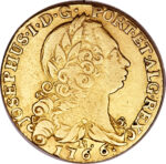 Золотая монета 3200 рейсов (3200 Réis) Бразилия
