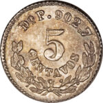Серебряная монета 5 Сентаво (5 Centavos) Мексика