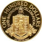 Золотая монета 100 долларов Виргинских островов