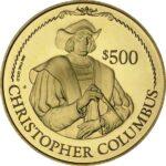 Золотая монета 500 долларов Виргинских островов