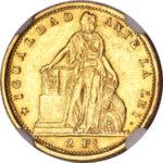 Золотая монета 2 Песо (2 Pesos) Чили