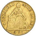 Золотая монета 5 Песо (5 Pesos) Чили