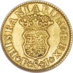 Золотая монета ½ Эскудо (½ Escudo) Испания