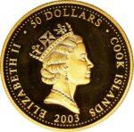 Золотая монета 50 Долларов Островов Кука