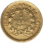 Золотая монета 1 Песо (1 Peso) Чили