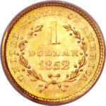 Золотая монета 1 Dollar (доллар) США