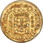 Золотая монета 2000 рейсов (2000 Réis) Бразилия