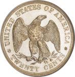 Серебряная монета 20 центов (20 Cents) США