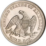 Серебряная монета ¼ Доллара (Quarter Dollar) США