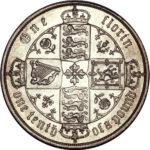 Серебряная монета 1 Флорин (1 Florin) Великобритания